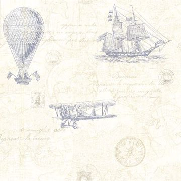 Picture of Explorer Blue Antique Map