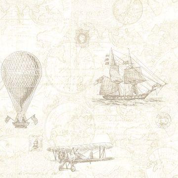 Picture of Explorer Khaki Antique Map