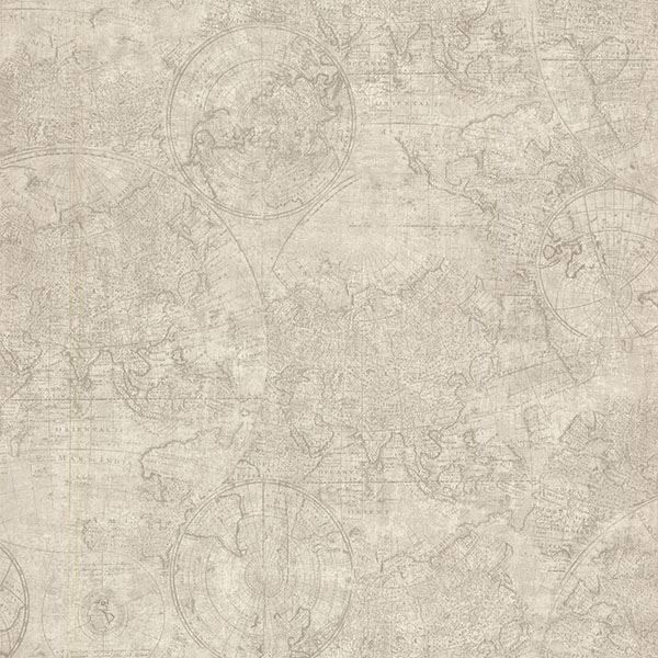 Picture of Cartography Fog Vintage World Map