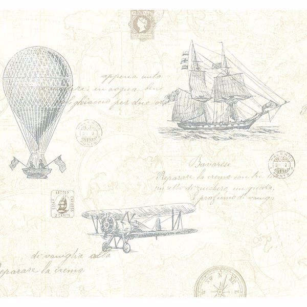 Picture of Explorer Teal Antique Map