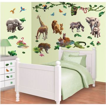 Jungle Adventure Wall Art Kit