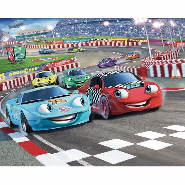 Car Racers Mural