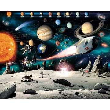 Space Adventure Mural