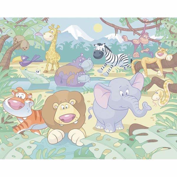 Baby Jungle Safari Mural