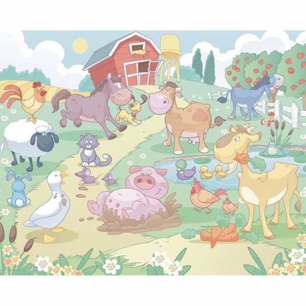 Baby Fun On The Farm Mural