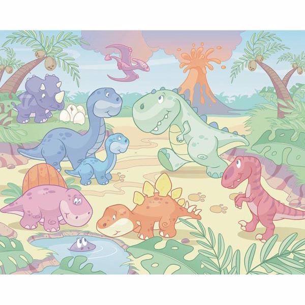 Baby Dino World Mural