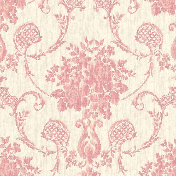 Marais  Pink Ikat Damask