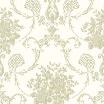 Marais  Green Ikat Damask