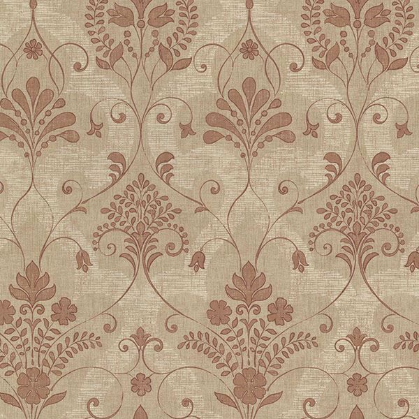 Andalusia Sienna Damask