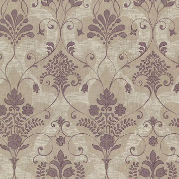 Andalusia Violet Damask