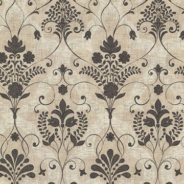 Andalusia Black Damask