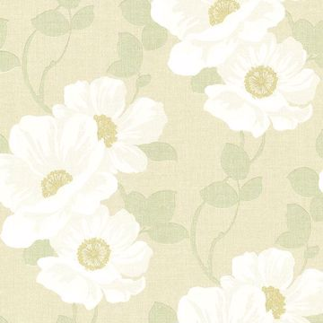 Leala Golden Green Modern Floral