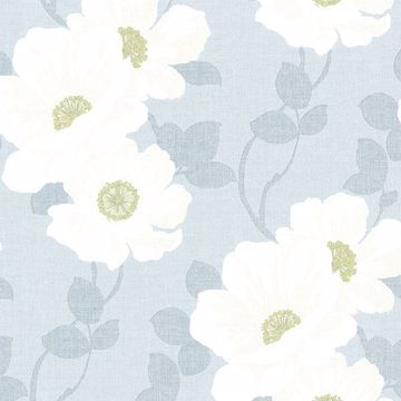 Leala Light Blue Modern Floral