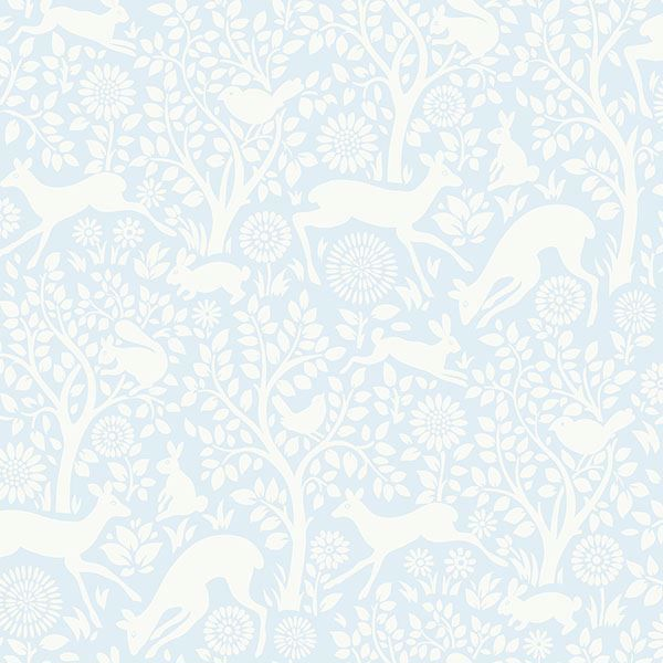 Picture of Anahi Light Blue Forest Fauna