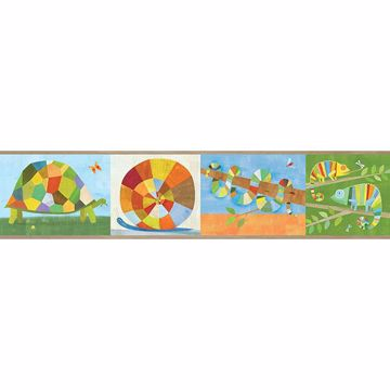Picture of Raffi Multicolor Rainbow Snail and Pals Border