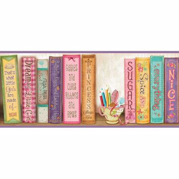 Picture of Vivi Purple Sugar and Spice Bookshelf Border