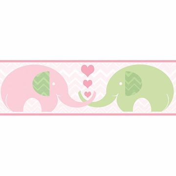 Picture of Tobi Pink Elephant Love Border