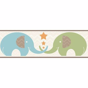Picture of Tobi Brown Elephant Love Border
