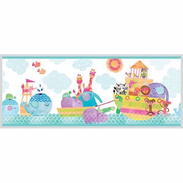 Picture of Noah and Friends Aqua Animal Border
