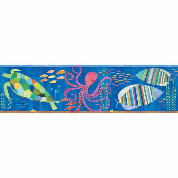 Picture of Samantha Ocean Rainbow Sea Critters Border