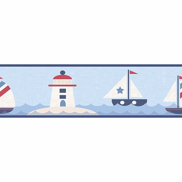 Picture of Travis Navy Come Sail Away Border