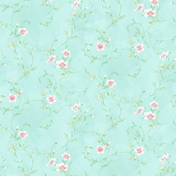 Picture of Capri Aqua Floral Scroll