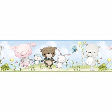 Picture of Brenden Blue Animal Parade Border