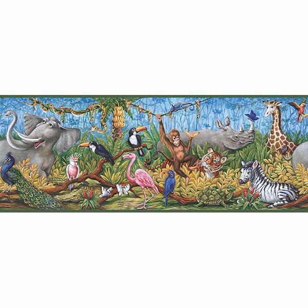 Picture of Nathaniel Green Swinging Jungle Border