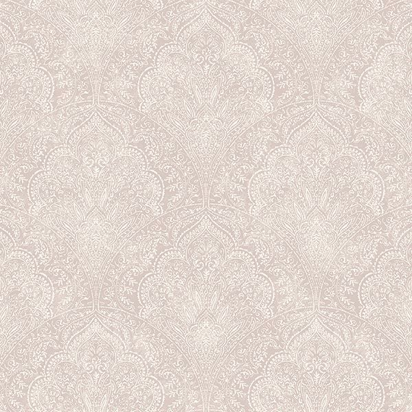 Rw40109 Mauve Paisley Damask Celeste Rustico Wallpaper