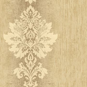 Mazzy Brass Damask Stripe