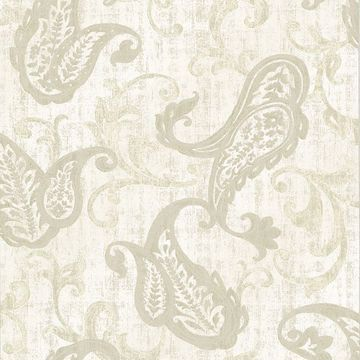 Picture of Darro Taupe Global Paisley Wallpaper