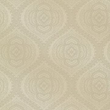 Picture of Zaida Taupe Paisley Damask  Wallpaper