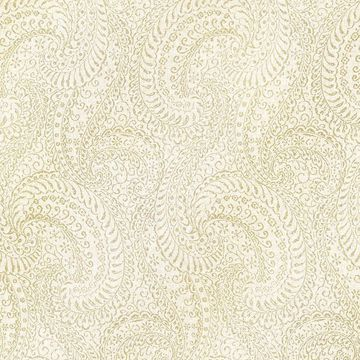 Picture of Daraxa Light Grey Paisley Wallpaper