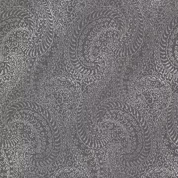 Picture of Daraxa Black Paisley Wallpaper