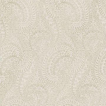 Picture of Daraxa Taupe Paisley Wallpaper