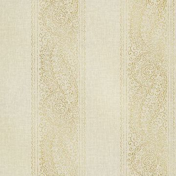 Picture of Arcades Beige Paisley Stripe Wallpaper