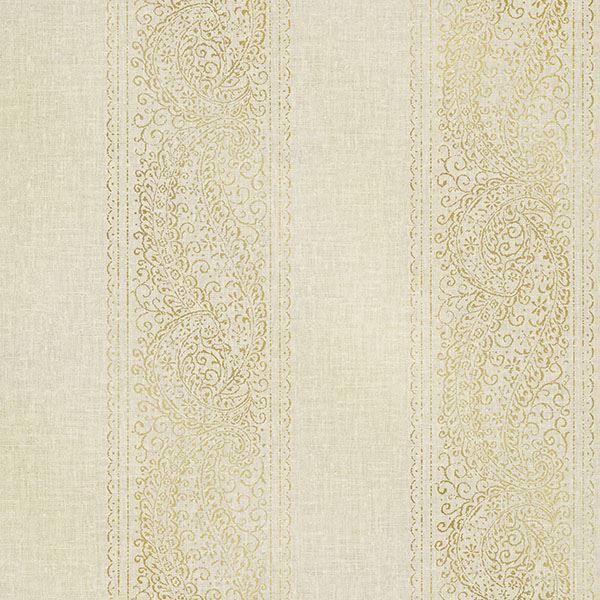 Picture of Arcades Beige Paisley Stripe Wallpaper