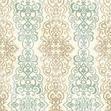 Picture of Mexuar Aqua Filigree Stripe
