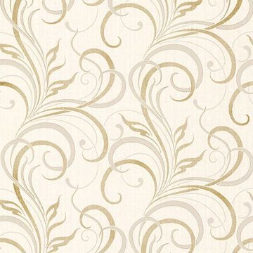 Picture of Rauda Champagne Modern Scroll
