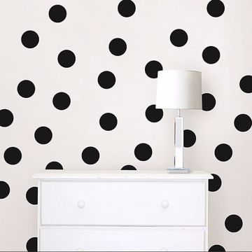 Picture of Matte Black Confetti Dot Decals