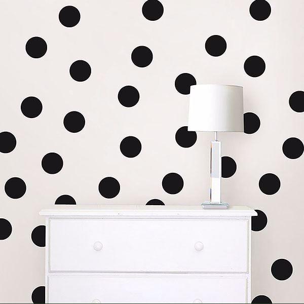 Picture of Matte Black Confetti Dot Decals