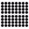 Matte Black Confetti Dots