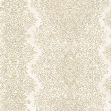 Picture of Benedict Beige Ornate Paisley Stripe Wallpaper