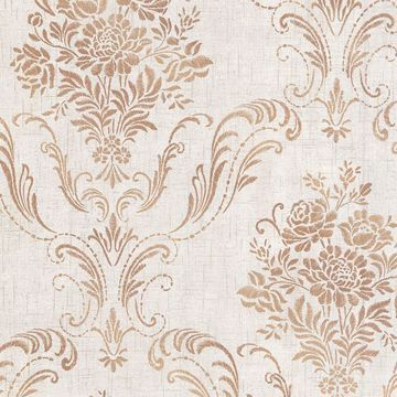 Picture of Manor Fog Floral Damask