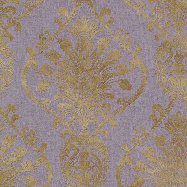 Picture of Noble Purple Ornate Damask