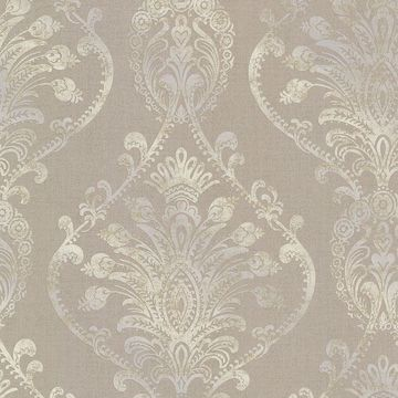 Picture of Noble Taupe Ornate Damask