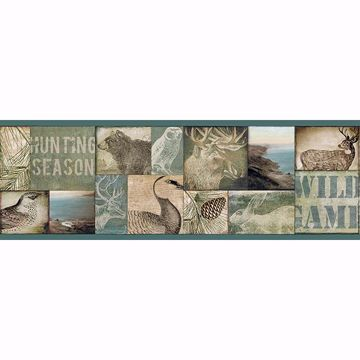 Picture of Trumball Teal Wild Game Border