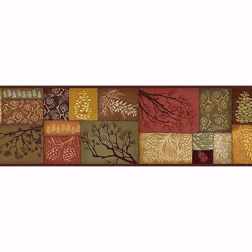 Picture of Wenham Red Pinecone Collage Border