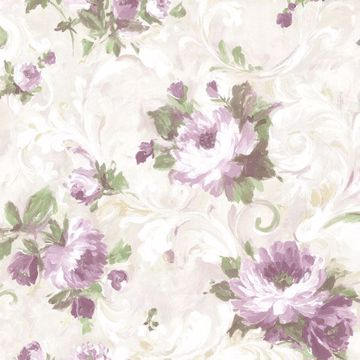 Picture of Jasmine Purple Floral Scroll