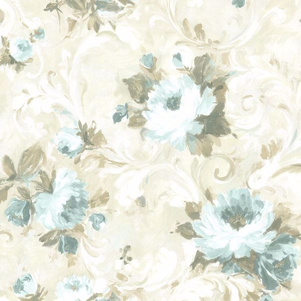 Picture of Jasmine Blue Floral Scroll